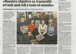 presentación a prensa de rock and roll club valladolid